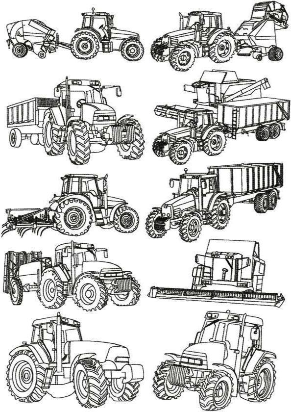 30 best Gritty Tractor Coloring Pages images on Pinterest