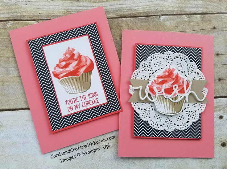 Simple Saturday done two ways, featuring Sweet Cupcake Bundle by Stampin' Up