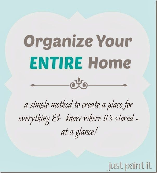 Organize your ENTIRE home and you can see where you've put everything at a glance!
