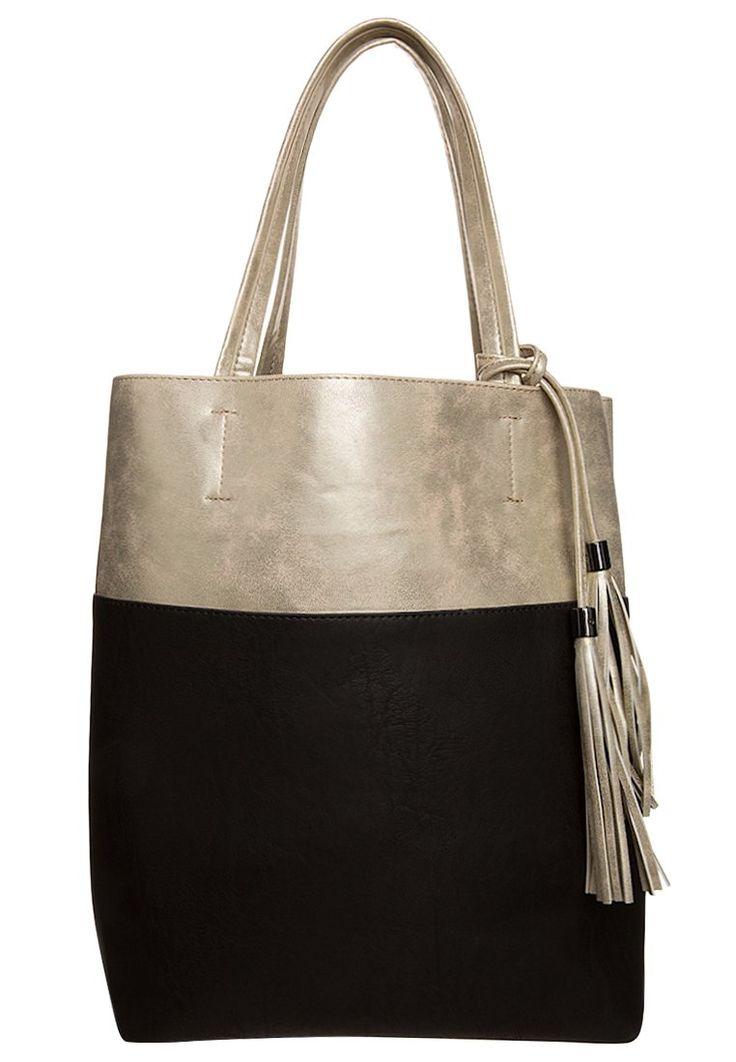 6021b1e098578 ... EvenOdd Shopping Bag - goldenblack - Zalando.de MICHAEL Michael Kors ...