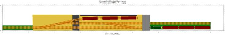 Wetterau Food Services switching layout 7.5/54 inches plus staging. More here: http://mmrrc.blogspot.ca/2014/04/wetterau-food-services-micro-layout.html