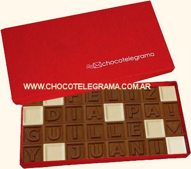 Chocotelegrama clásico. Regalos día del Padre Originales a Domicilio en Argentina
