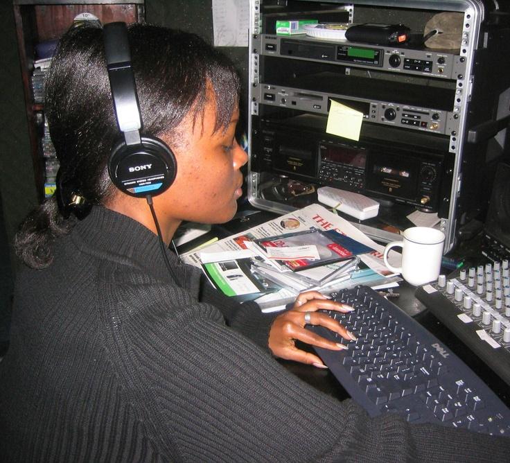 A journalist in Kenya.