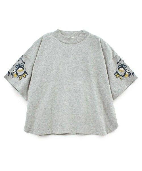 RNA-N(アールエヌエーエヌ)のM0344 オリエンタル刺繍Tシャツ(Tシャツ/カットソー)|グレー