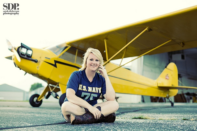 senior portraits with airplane by SarahDickersonPhoto, via Flickr