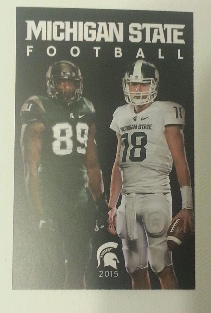 michigan state football 2015-16 pocket schedule! connor cook shilique calhoun! from $2.0