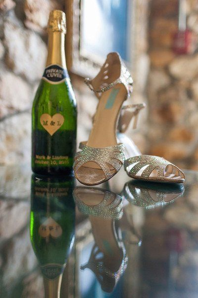 Silver heels for bride - silver, sparkly peep-toe heels {Mabyn Ludke Photography}