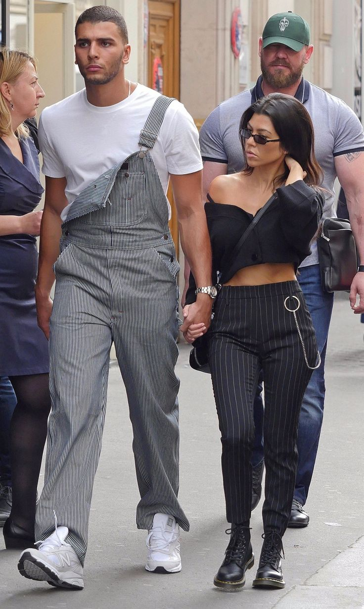 Kourtney Kardashian, Younes Bendjima, Paris Fashion Week, France