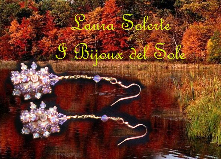 Liquidambar earrings with O' Beads. O' Beads are the new beads designed by Sabine Lippert. Liquidambar earrings: design, planning and carrying out by I Bijoux del Sole. Laura Solerte Copyright 2014