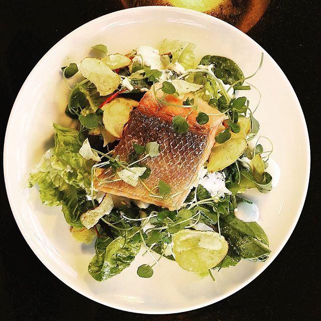 Smoked salmon & salad  #savustettulohisalaatti #smokedsalmonsalad  #terassi #terrace #grill #allday #chefs #långvik #summervibes #kesä #langvikhotel http://www.langvik.fi/