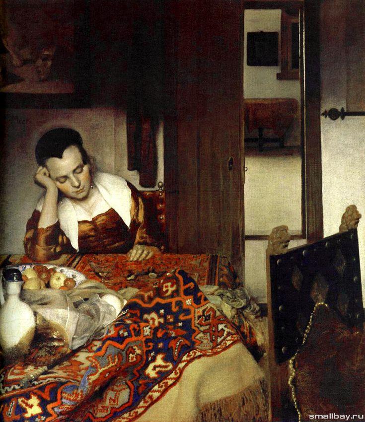 Уснувшая девушка, 1657 Музей Метрополитен, Нью-Йорк.