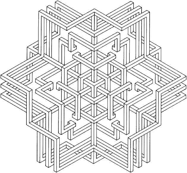 3d Snowflake Libro De Colores Dibujos Para Colorear Adultos Mandalas Geometricas