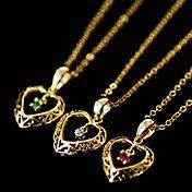 mujeres circón corazón colgante collar – CLP $ 2.541