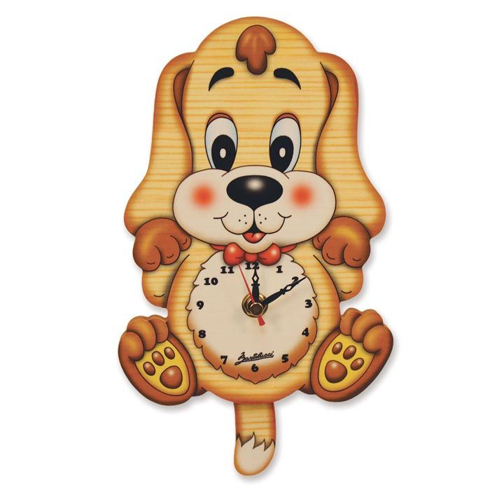 Basset Hound Clock | Gift for Children | Wall Clock by Bartolucci