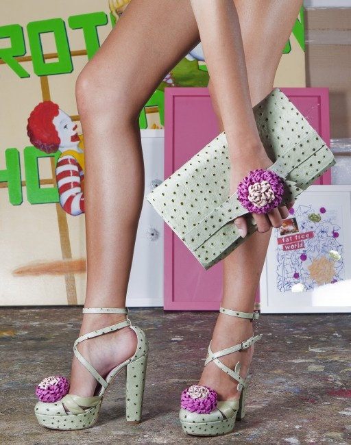 Shoes and clutch by Minna Parikka