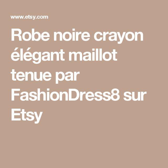 Robe noire crayon élégant maillot tenue par FashionDress8 sur Etsy