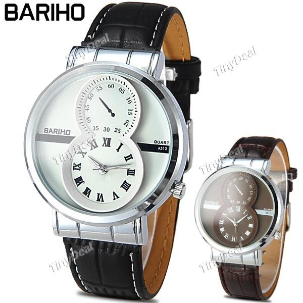 http://www.tinydeal.com/it/barihochic-quartz-watch-with-1-false-dial-for-men-p-110597.html  (BARIHO)Fashion Round Case Quartz Analog Wristwatch Timepiece with PU Leather Band