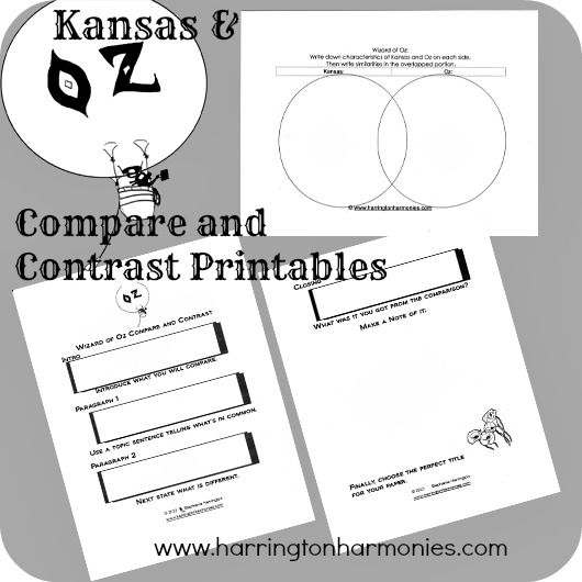 best wizard of oz images wizards the wizard and  kansas and oz compare and contrast wizard of oz activity 4