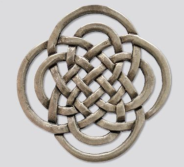 The Symbol of the Rightful One: It has the form of a celtic knot, composed of two St John's crosses (also known as the 'clover or eternity' knot). In the symbol, two eternity knots are interwoven - one large and one small. Symbolizing how the two worlds interact.