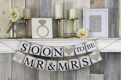 Soon To Be Mr and Mrs, Engagement Party Banner, Soon to be Banner, Engagement Party Decor, Engagement Party Banner, Engagement Banner by WeddingBannerLove on Etsy https://www.etsy.com/listing/263282868/soon-to-be-mr-and-mrs-engagement-party