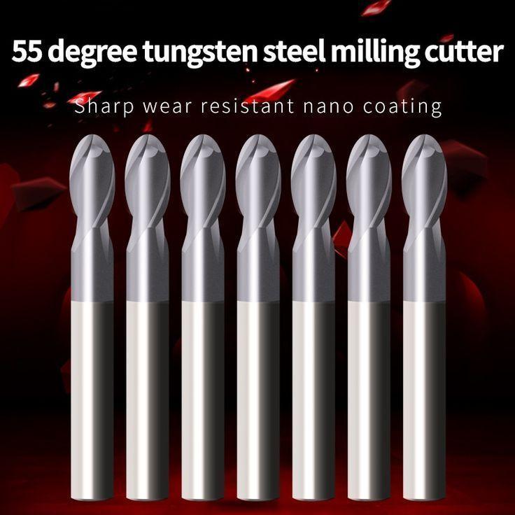Fresa 1mm Carbide End Mill Cutter Tungsten Steel Cutter CNC//PCB Engraving Bit