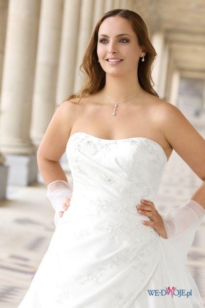Drapowany gorset sukni ślubnej XL