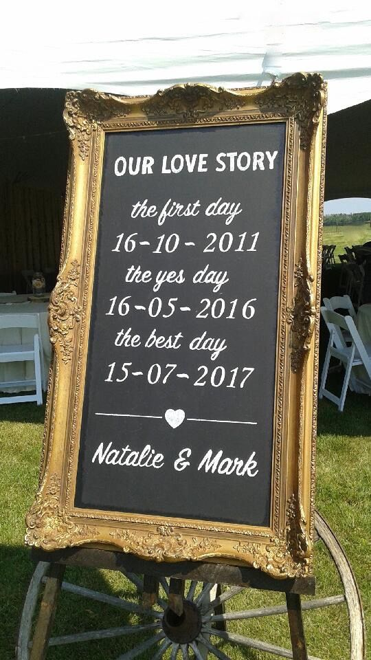 Love the Ornate Gold Chalkboard!