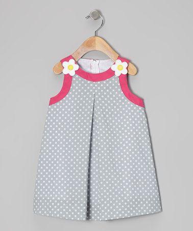 Another great find on #zulily! Light Blue Polka Dot Swing Dress - Girls #zulilyfinds