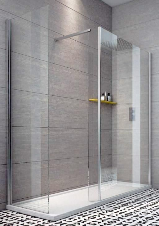 Indi 1800 x 700 8mm Walk in Shower Enclosure inc Tray and Waste - 1800x700 - Walk In Showers - Shower Enclosures - Aquabliss