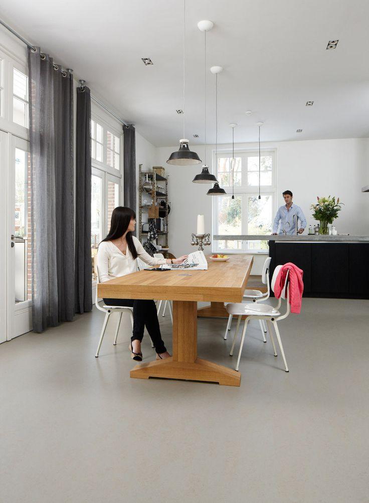 Marmoleum (Thuis Selectie) Linoleum - vloer 3706 beton- grijs