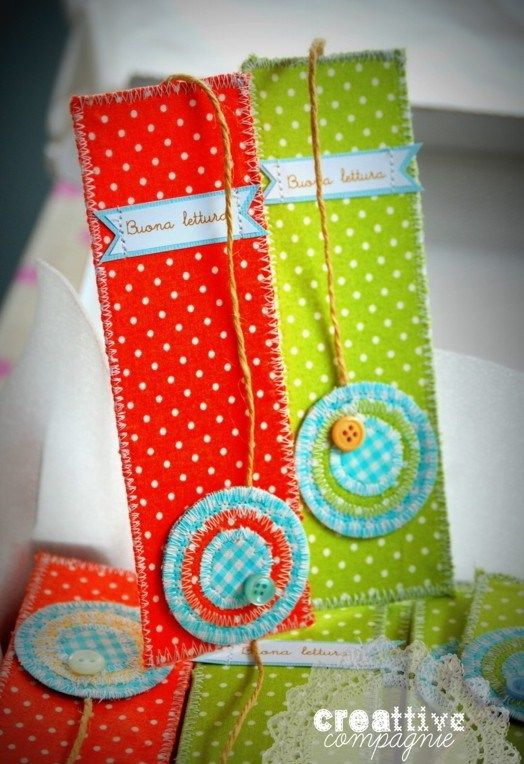 Fabric Bookmark! Great idea for those who love to read, like me:)