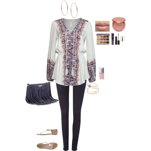 A fashion look from February 2015 featuring Free People tunics, Diesel leggings and Miss Sixty sandals. Browse and shop related looks.