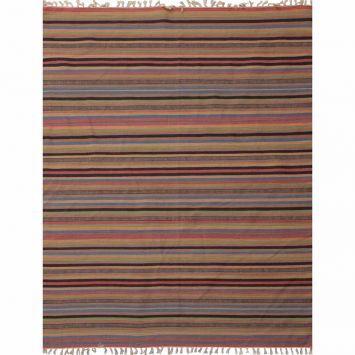 Tapete de Sala Kelim Cotton I 200x300 cm Listrado Hariz Tapetes - 600.00