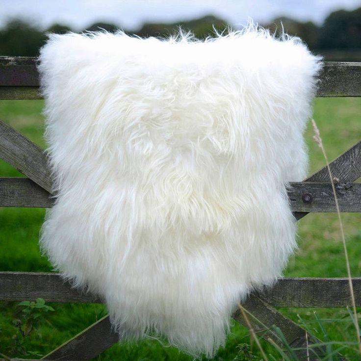 White Icelandic sheepskin rug