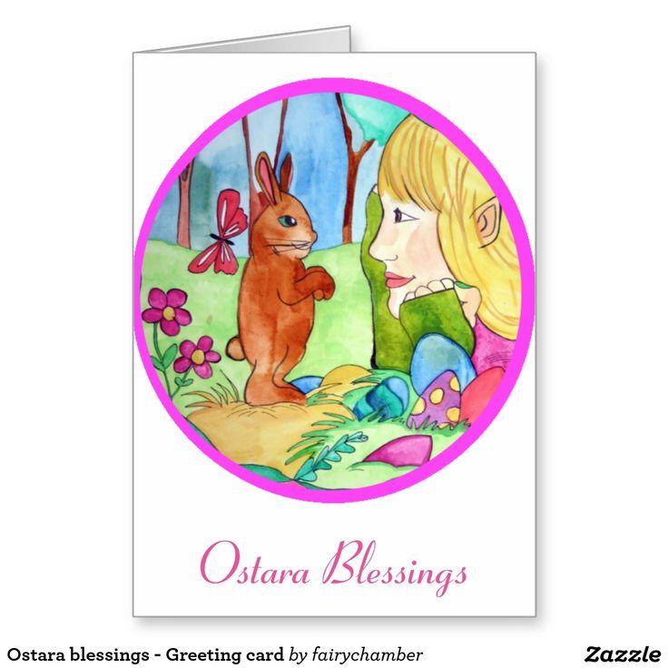 Ostara blessings - Greeting card