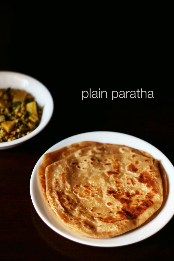 plain paratha recipe - crisp as well as soft unleavened whole wheat flat indian bread.