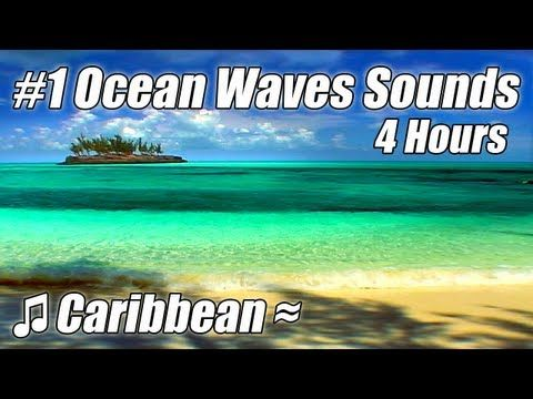 VERY RELAXING 4 Hour Video of Ocean WAVES Caribbean Beaches Sounds of Tropical Island relax sleep.