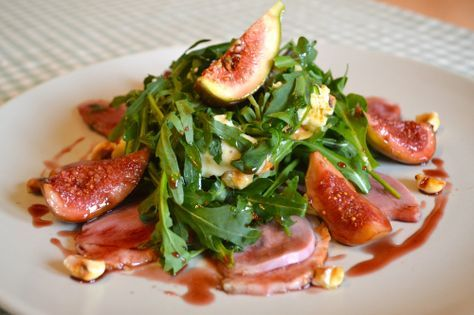 Smoked Duck Salad with Glazed Figs, Blue Cheese & Hazlenuts by @Matty Chuah Foodie Couple Blog