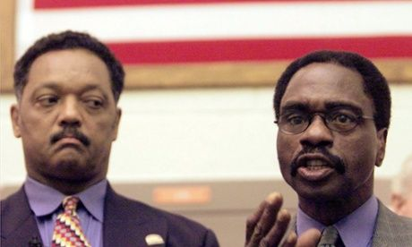 Rubin Carter with Jesse Jackson in 2000.  Rubin 'Hurricane' Carter, US boxer wrongly convicted of murder, dies at 76 Carter, remembered in Bob Dylan song Hurricane, imprisoned for 19 years before charges against him were dismissed Martin Pengelly in New York The Guardian, Sunday 20 April 2014