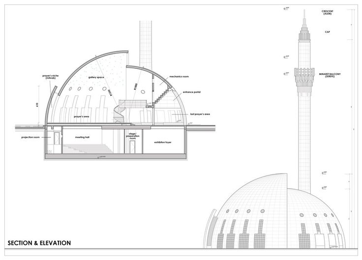 Plan Elevation Section Of Mosque : Best mosque prototype images on pinterest beautiful