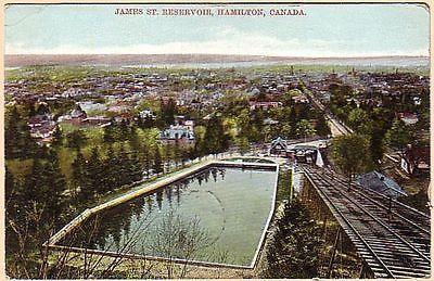 James-Street-Reservoir-Hamilton-Ontario-Canada-Vintage-1910-Postcard