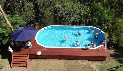 Above ground pool idea.