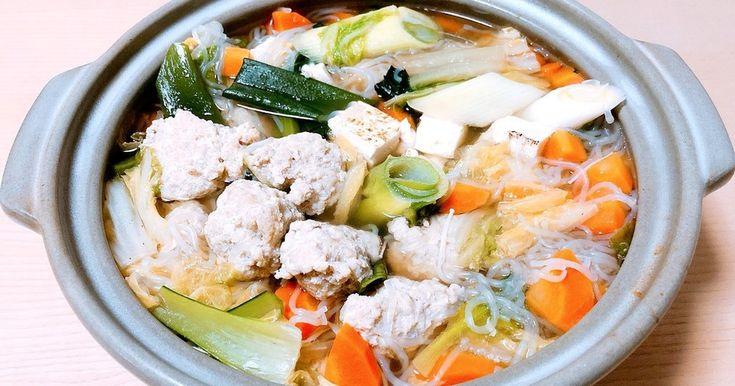 鶏肉のつみれ鍋 by かちょもよ 【クックパッド】 簡単おいしいみんなのレシピが281万品