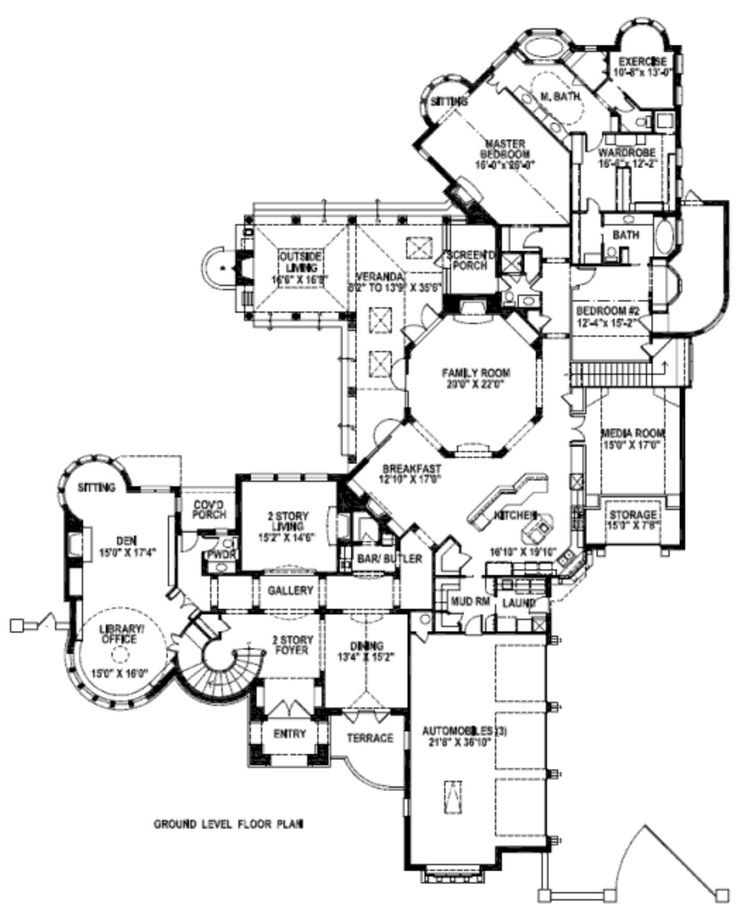 Move Kitchen To Media Room. Move Breakfast Area To Kitchen. Move Garage  Next To. Tudor HouseLarge Floor PlansLarge ...