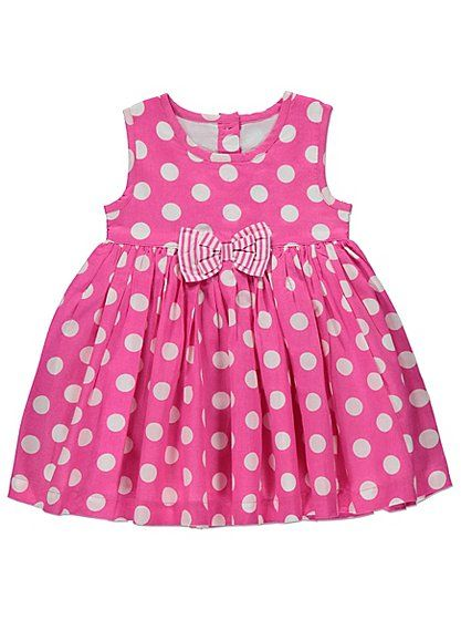 Polka Dot Print Dress, read reviews and buy online at George at ASDA. Shop from our latest range in Baby. Everyone will be spotting how cute your little one ...