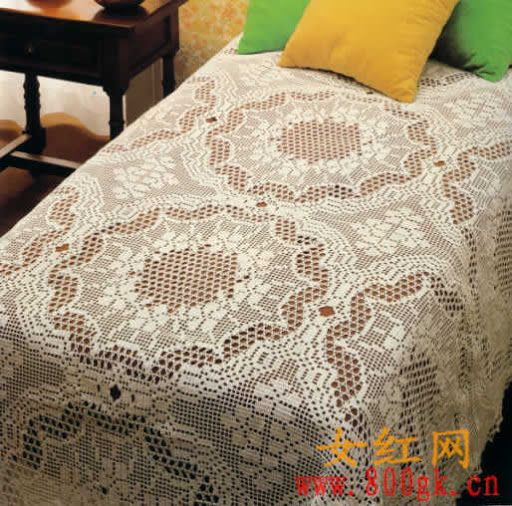 Vintage masterpiece, crochet bedspread ♥LCB♥ with diagram.  The diagram is not to clear, but it can be recreated just use graph paper to re recreate.