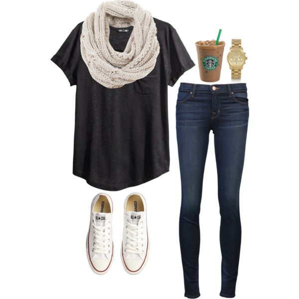A fashion look from July 2014 featuring black top, blue jeans and