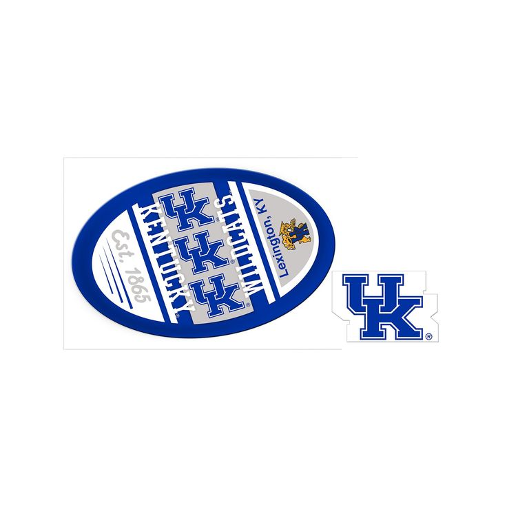 Kentucky Wildcats Game Day Decal Set, Multicolor