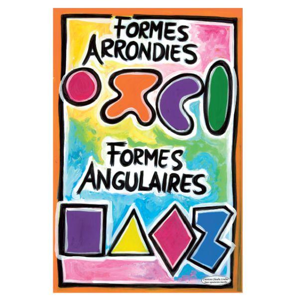 Affiche Formes arrondies et angulaires