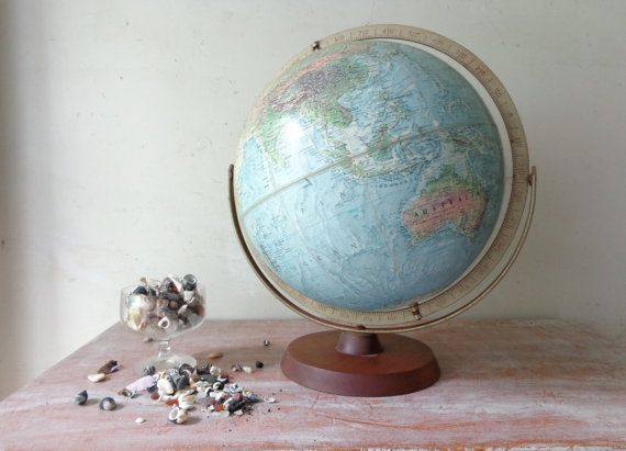 """Vintage Replogle World Globe  Industrial by thefoxandthespoon a little """"worldly charm"""", vintage globes are so hot!"""